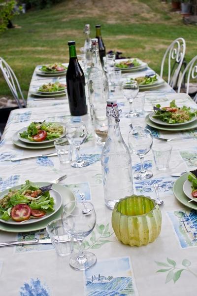 gedekte tafel   Fermette Herbes